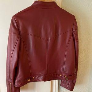 Michael Kors Jackets & Coats - Michael Kors Zip Front Scuba Leather Jacket